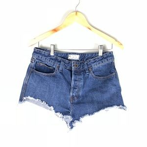 Free People Cutoff Jean shorts size 28
